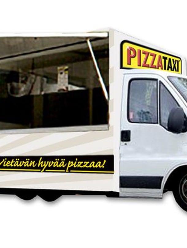 Katuruokapizzat leivotaan autossa. kuva: Pizzataxi.