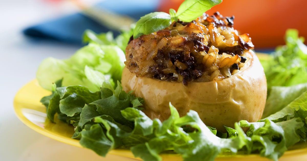 Tateilla ja jauhelihalla täytetyt uuniomenat | Liha | Soppa365
