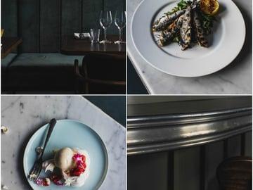 Sikke'sin sisustus tuo mieleen pariisilaisbistrot. Strindbergin vanha kahvilatiski sai ravintolassa uuden elämän.