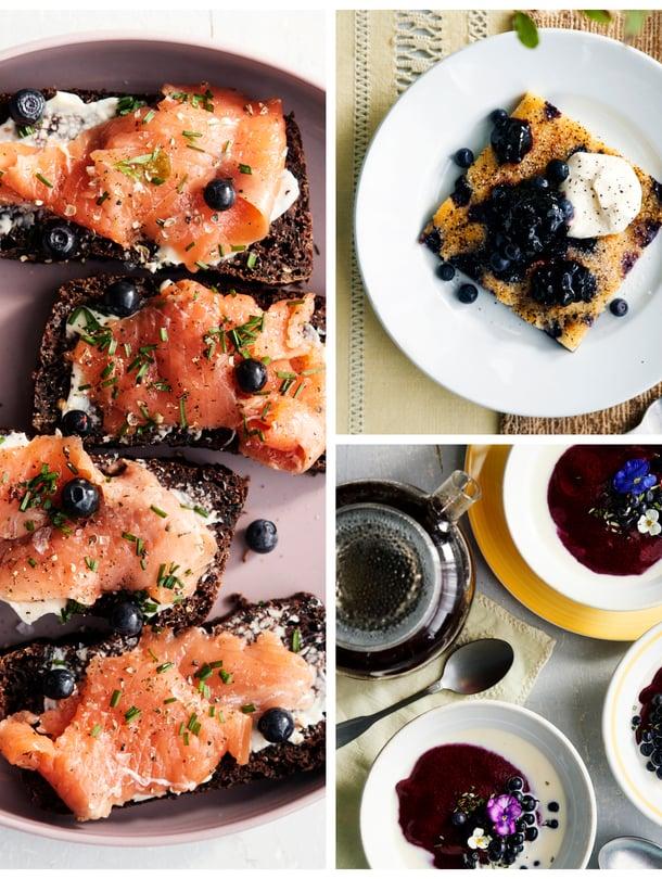 Mustikka sopii niin leipään, pannariin kuin vispipuuroonkin.