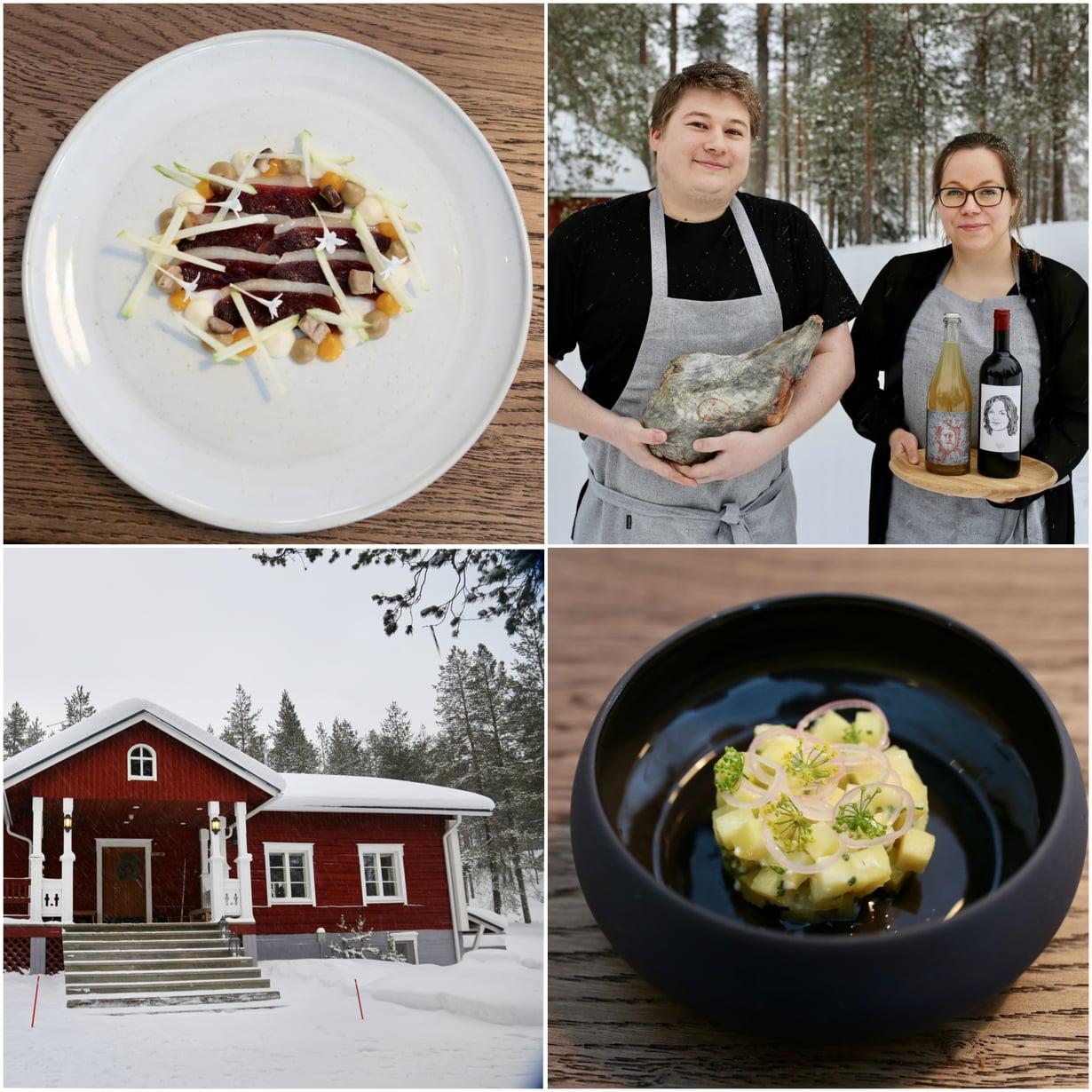 Ravintola Tapiota pyörittävät ravintoloitsijat Connor Laybourne ja Johanna Mourujärvi.