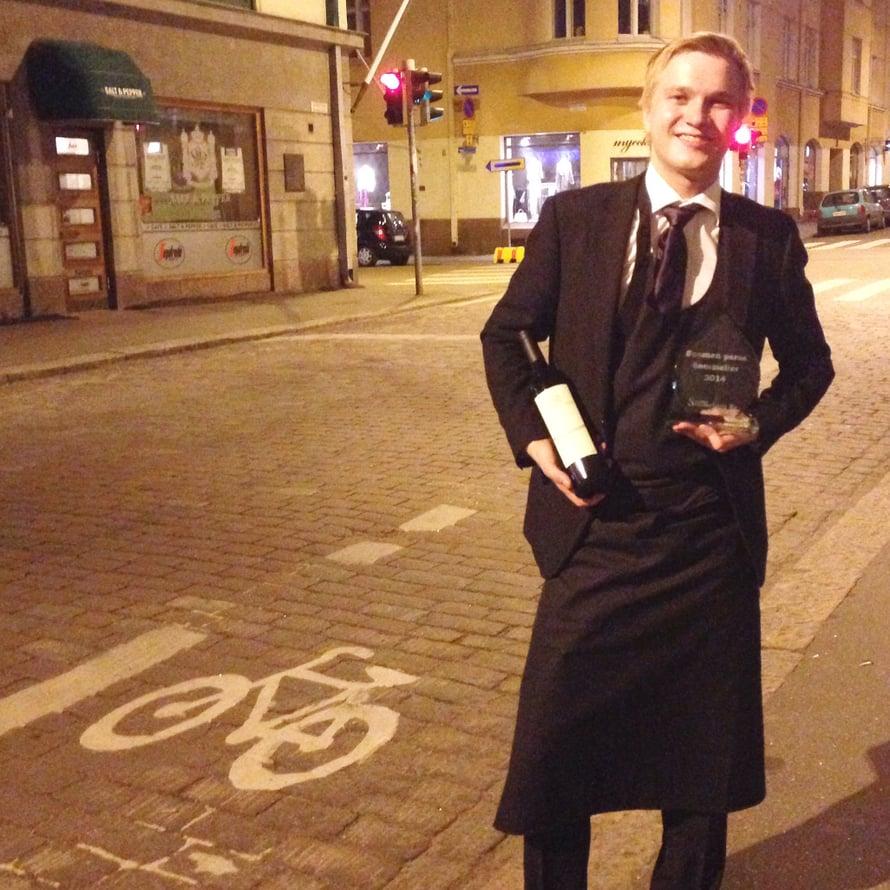 Markku Niemi valittiin maanantaina Suomen parhaaksi sommelieriksi 2014.