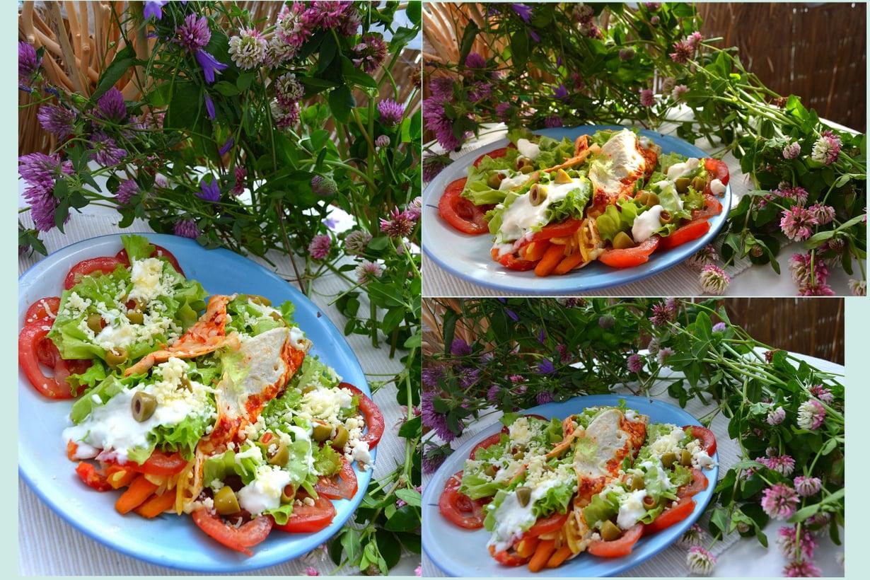 Tortillojen salaatin helmoissa