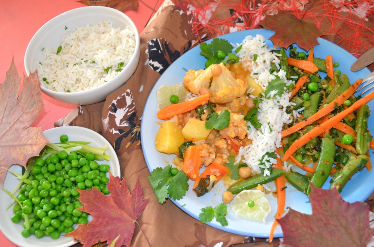 Aterian Jin ja Jang jotka tasapainottavat toisiaan salaattina ja pääruokana.