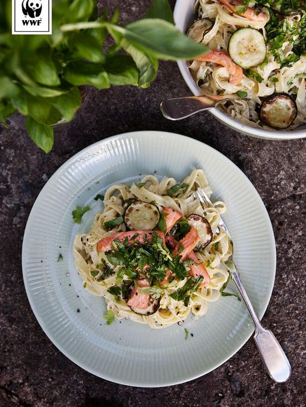 """Kyllä, kirjolohipastakin on nyt eettistä ruokaa. Kuva: <span class=""""photographer"""">Sabrina Bqain/WWF</span>"""