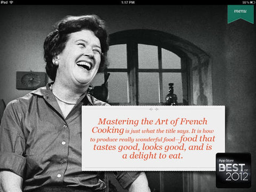 Amerikkalaisen keittiömestarin ja televisiotähden Julia Childin opit eivät ole vanhentuneet 50 vuodessa lainkaan.