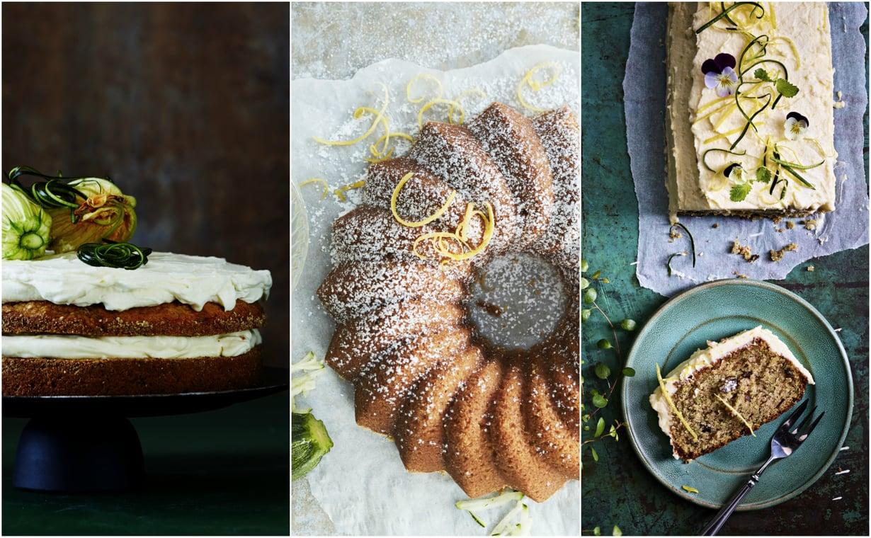 Kesäkurpitsakakusta voi leipoa kuorrutetun tai kahvikakkumaisen version.